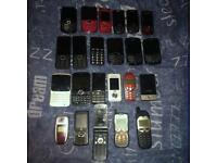 Joblot 22 older mobile phones and tmobile wireless pointer spares or repair