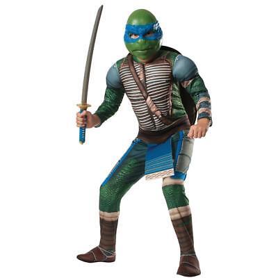 Herren Erwachsene Dlx Leonardo Muskel Brust Teenage Mutant Ninja Turtles Kostüm (Herren Ninja Turtle Kostüme)