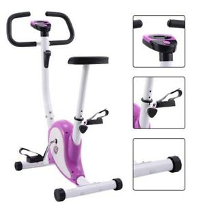 Exercise Bike Stationary Cycling Fitness Cardio Aerobic Equipment Gym Purple - FREE SHIPPING