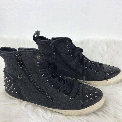 Aldo Womens Sneakers Flat Black Studded