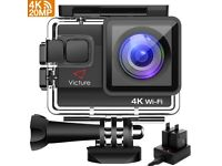 BRAND NEW! 4K Action Camera 20MP UHD WIFI Camcorder 96ft Underwater Cam Timelapse Anti-shaking Zoom