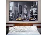 Large Framed Print / Wall Art / Time Square, New York / Ikea / Good Condition