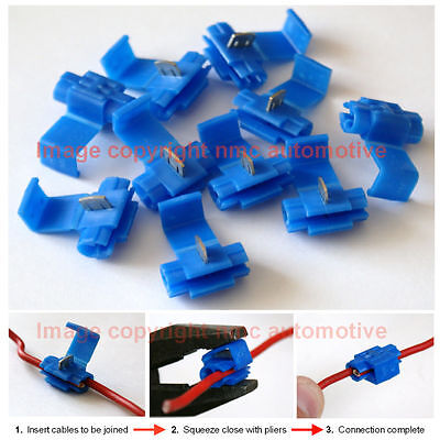 scotch clips self stripping cable joining wire connectors 10 x pieces~