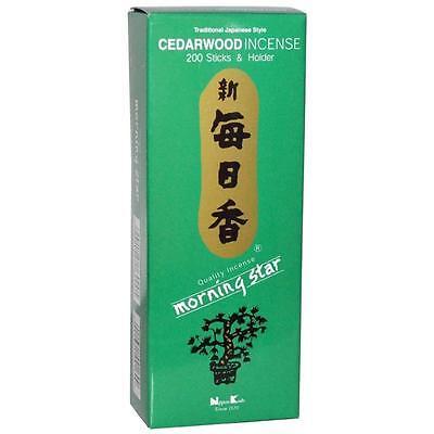 Japanese Morning Star Cedarwood Incense 200pcs NK-169 S-1664