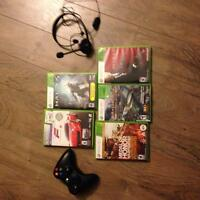 XBOX 360 plus five games and more