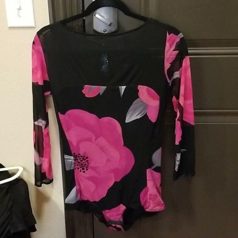 Espen Salberg Latin Dance Spanish Rose Bodysuit, Size L (runs small)