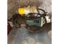 Makita 4.5 inch angle grinder 110v