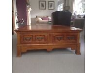 Wooden 4 drawer coffee/occasional table