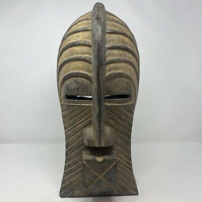 Novica Collection African Wooden Mask Brown Hand Crafted Carved Ghana 17x7 in