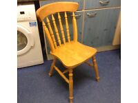 4 solid dining/kitchen chairs,good used condition