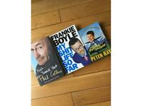 Autobiographies 2 hardbacks by Phil Collins and Frankie Boyle and a Paperback Peter Kay.