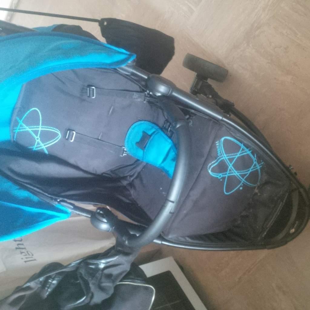 Lovely Blue And Black Stroller In Long Eaton