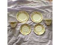 """2 Cups, 2 Saucers and 2 Side Plates of the excellent """"Greensleeves"""" from the Duchess Collection"""