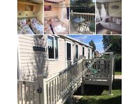 Family Caravan Hire at Marton Mere (Haven Blackpool) Sleeps 6 / 3 bedrooms with decking