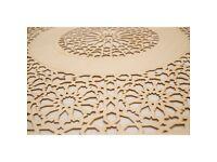 Laser Cut Wood, SIZE: 110cm DIA, Decorative Carved Wooden Ceiling Rose