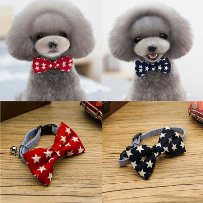 2 Pcs Cute Bow Tie Necktie Clothes Dog Cat Puppy Pet Grooming Accessory