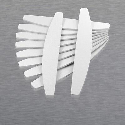 50 x Feilen 100/180 Trapez Maniküre Trapez weiß Nagelfeilen Nagel Feile Nails