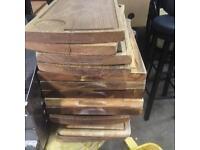 Wooden steak boards