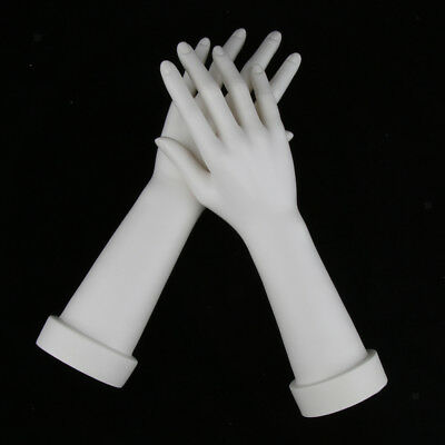 New Female White Hand Mannequin Women Arm Display Ring Glove Jewelry Model
