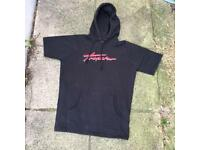 Trapstar black short sleeve hoodie size small