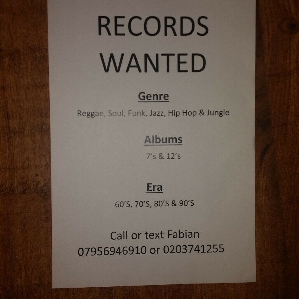 RECORDS WANTED! | in Crouch End, London | Gumtree