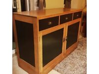 Old solid oak sideboard