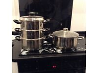 3 tier steamer and large stockpot