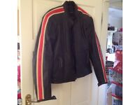 LEWIS leather biker jacket. NEW. Cafe Racer Style. Full Armour & zip out liner. UK 40