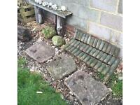 Stepping stones, ornament stones and some edging