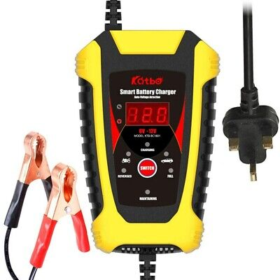 HEAVY DUTY 2A-6A 6V 12V BATTERY CHARGER JUMP STARTER BOOSTER CAR VEHICLE VAN UK
