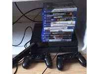 PS4+12 games +2controllers+Ps4go camera games include fifa16delux edition and gta5 Disneyinfity+more