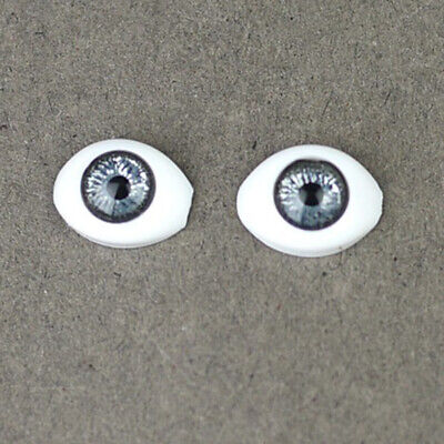 Doll Making Supplies 1/4 BJD SD Safety Eyes 14mm - Silver Iris Black Pupil for sale  China