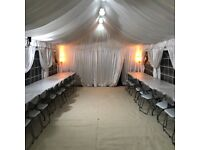 Marquee Hire / Tent - Lighting | Heating | Flooring | Chairs & Tables CHECK DESCRIPTION