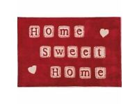 Home Sweet Home Red rug 120cm x 170cm