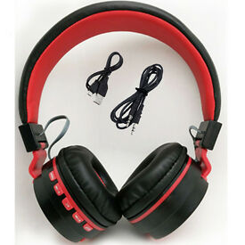 Black Bluetooth wireless Foldable Folding Over Headphones for iPod iPad iPhone