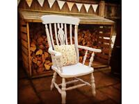 Beautiful Annie Sloan painted fireside chair