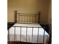 King size bed frame and mattress (optional)