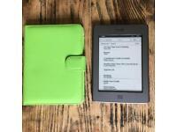 Amazon kindle e-reader D01200 6' screen WiFi 3G 4gb ebooks