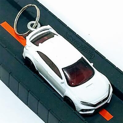 Hot Wheels Nightburnerz 2018 Honda Civic Type R White 5/10 1:64 Diecast Keychain