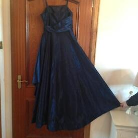 Evening Dress - Size 10 - Worn Once - Beautiful Blue