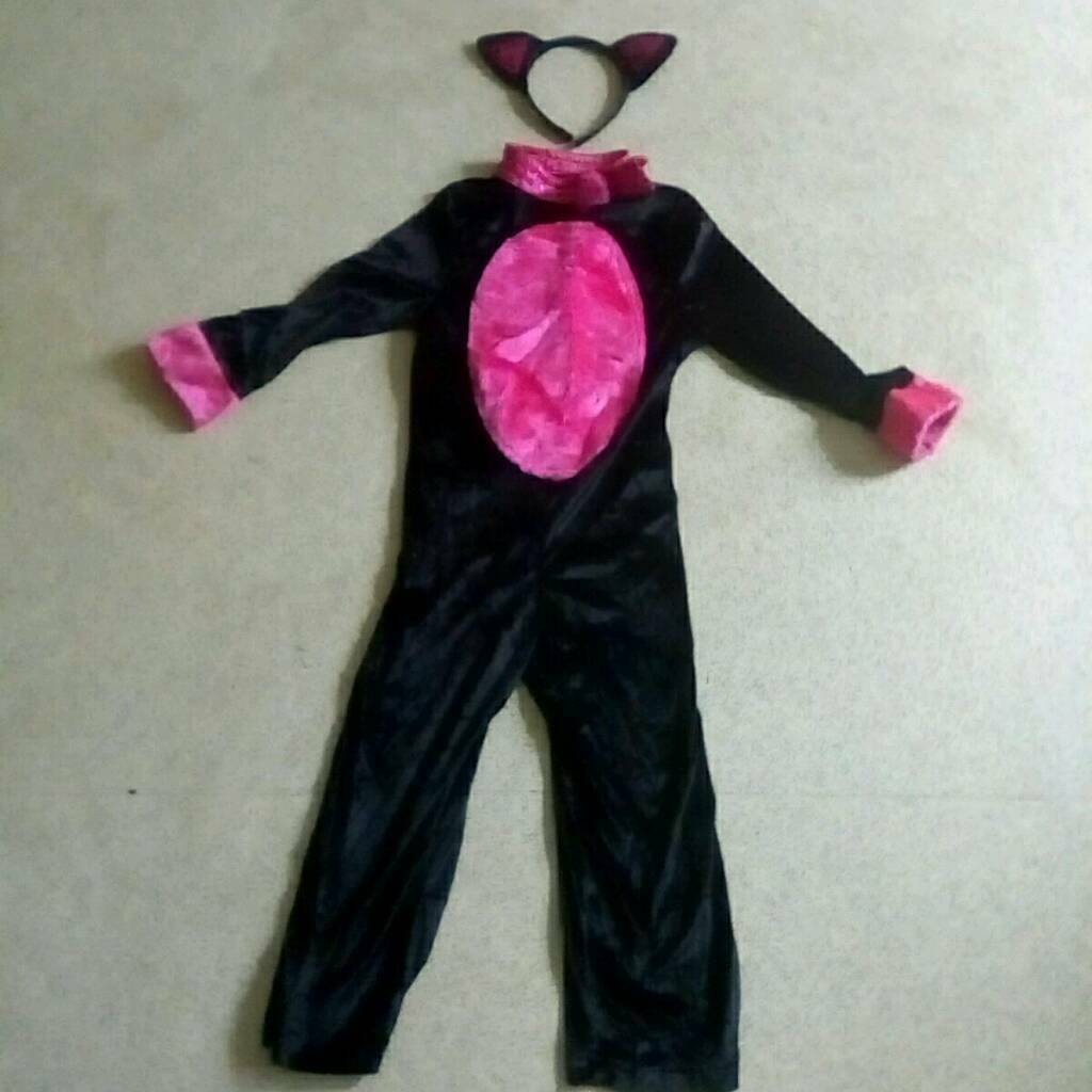 Catsuit age 5/6 yrs worn oncein Cwmbran, TorfaenGumtree - Pink and black cat suit comes with ears head band worn once like new condition