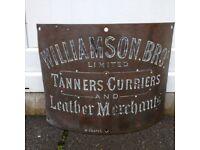 Antique Brass Sign.