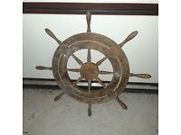 Decorative boat wheel