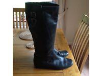 Ladies knee high black boots