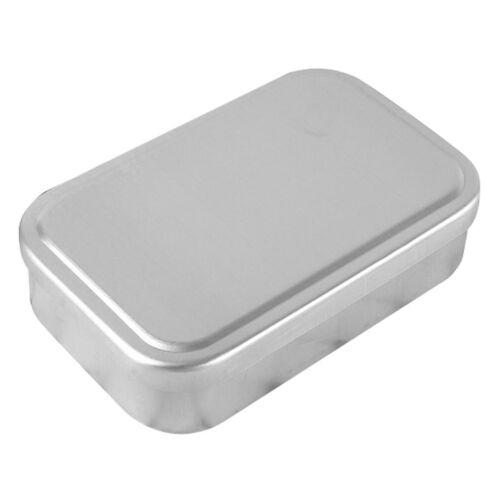 Rectangular Aluminum Lunch Box Small Bento Tiffin Food Conta