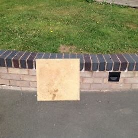 30 Cotswold Patio Slabs 45cm by 45cm by 3cm depth in good condition