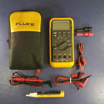 Fluke 87 Trms Multimeter Excellent Condition Screen Protector Soft Case