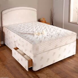 SINGLE/DOUBLE QUALITY MATTRESS WITH DIVAN BED BASE UK MANUFACTURED!!