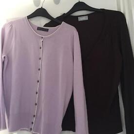 2 ladies cardigans size 14