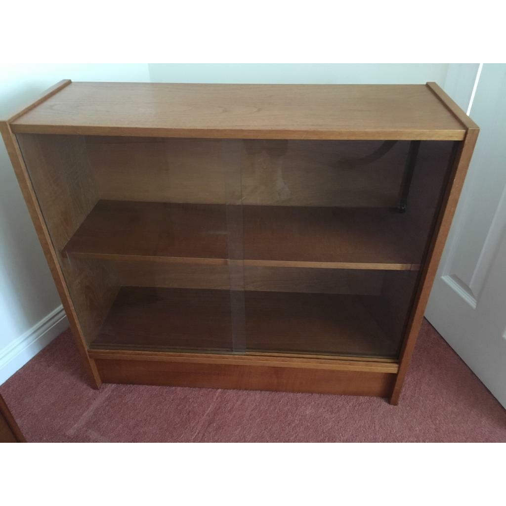 Solid Wood Low Bookcase With Glass Doors In Cullompton Devon Gumtree